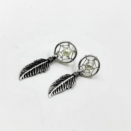 Dream Catcher Earrings, Sterling Si..