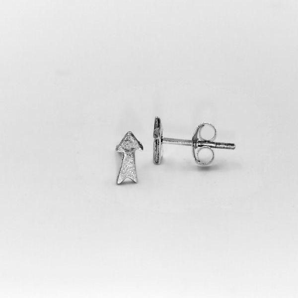Sterling Silver Arrow Stud Earrings With Simple Design For Everyday Wear And Birthday Gift For Her