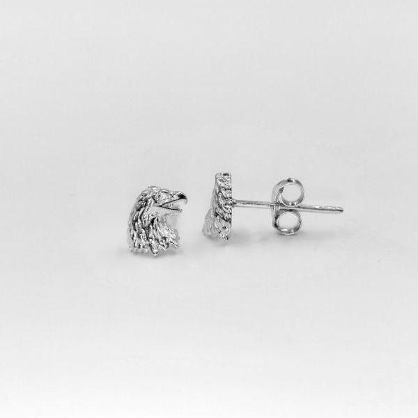 Silver Eagle Earrings Stud, Eagle Earrings, Animal Earrings, Bird Earrings, Tiny Earrings, Dainty Earrings, Free Shipping, Jewelry